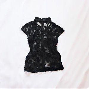 gracia ⋆ embroidered choker top